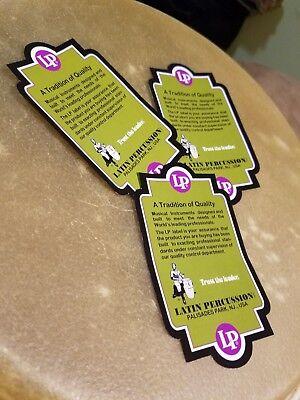 - LP Latin Percussion Vintage Sticker for Congas, Tumbadoras Quinto Re-print