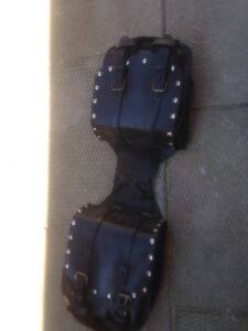 very old harley bags vintage 60-70,s  leather heat shields
