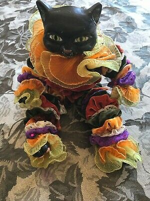 Katherine's Collection at Silver Lake Halloween Mardi Gras Cat Figurine