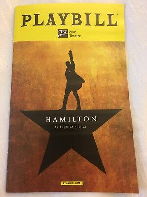 Hamilton Musical Chicago Playbill NEW - Perfect Condition