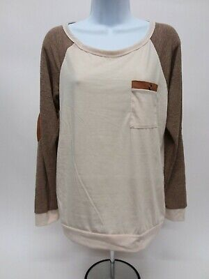 Women's Medium Unbranded Long Sleeve Pocket Sweater with Elbow Patches