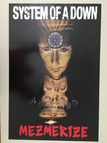 SYSTEM OF A DOWN,MEZMERIZE,MUSIC BAND,RARE AUTHENTIC 2005 POSTER