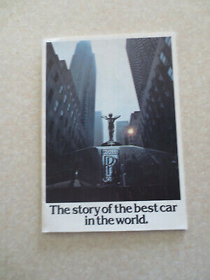 1977 Rolls Royce advertising booklet - Story of the best car of the (Best Cars Of 1977)