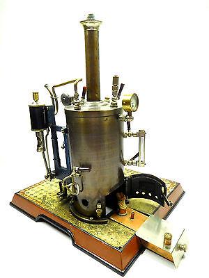 MÄRKLIN stehende Dampfmaschine H 112/11 Fliehkraftregler Manometer um 1909 /764