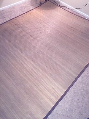 Bamboo area rug-Normal wear, clean