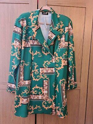 Versace Inspired Print Plus Size Blazer Size 20