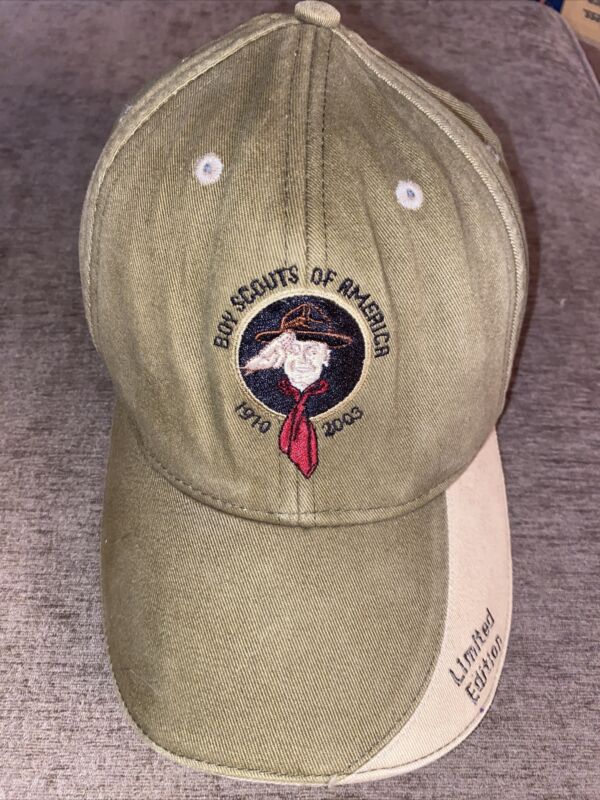Boy Scouts Of America 1910-2003 Limited Edition Hat Green/Khaki