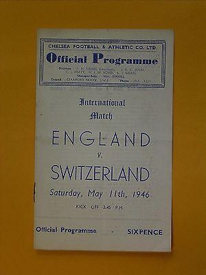 International Friendly - England v Switzerland - 11th May 1946