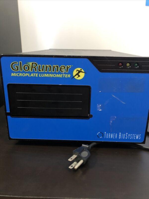 TURNER BIOSYSTEMS GLORUNNER MICROPLATE LUMINOMETER MODEL 9000-000