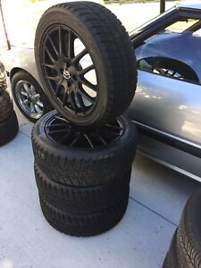 Mazda MX5 ND alloy wheels on winter tires