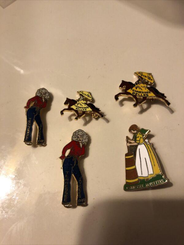 Lot of 5 Vintage Tennessee Jaycee's Pins