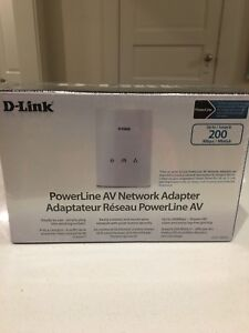 D-Link AV Network Adapter (200 Mbps) - Powerline - New Unopened