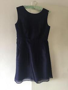 Alannah Hill navy blue cocktail dress size 14 Ultimo Inner Sydney Preview