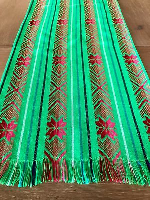 Mexican Fabric Table Runner - Lime - Table Runner Green