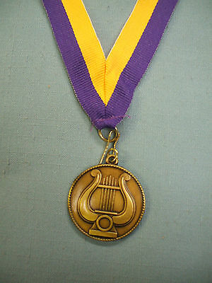 lot of 19 MUSIC lyre medal award purple and gold neck drape FREE lettering