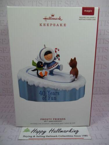 Hallmark 2019 Frosty Friends 40th Anniversary Magic Ornament Power Cord