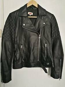 JAG Women's Genuine Leather Biker Jacket Size 6 Narellan Camden Area Preview