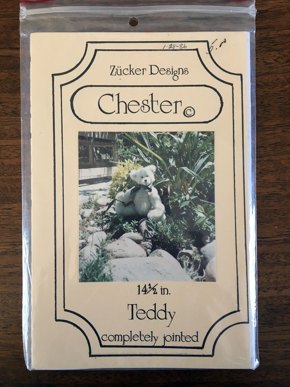 "Chester Bear 14 1/2"" Jointed Teddy Pattern Sewing Craft + Bonus Sizes 7""-10 3/4"""
