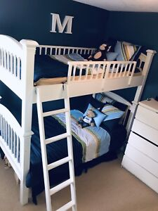 Bombay Kids Solid White Wood Twin Bunk Bed