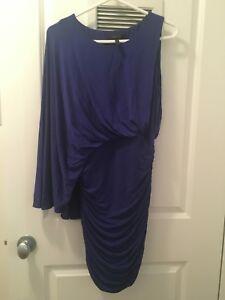 BCBG blue batwing cocktail dress - Size M