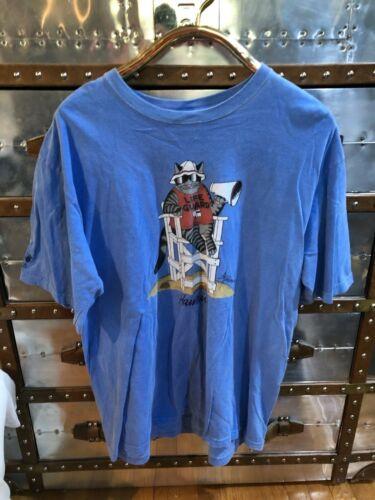 Crazy Shirt Hawaii Original B. Kliban Blue Hawaii Lifeguard XL 2013