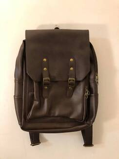 Brown PU Leather Backpack Caulfield Glen Eira Area Preview
