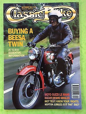 Classic Bike   September 1991   250Cc   450Cc Ducati Desmos   Bsa A7   A10