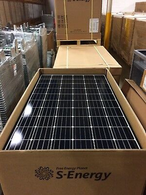 (12PCS) S-ENERGY 300W MONO BLACK FRAME SOLAR PANELS