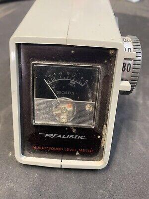 Vintage Realistic Musicsound Level Meter