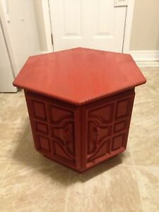 Vintage Hexagon Table for Sale