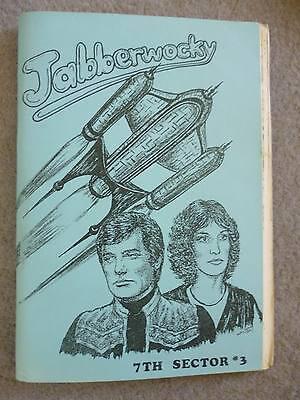 Blake's Seven 7 Vintage Fanzine 7th Sector #3 Jabberwocky by Sheila Paulson 1986