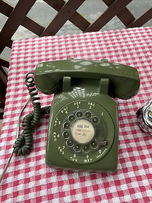 Vintage Western Electric Bell Systems Green Rotary Dial Desktop Telephone 500DM