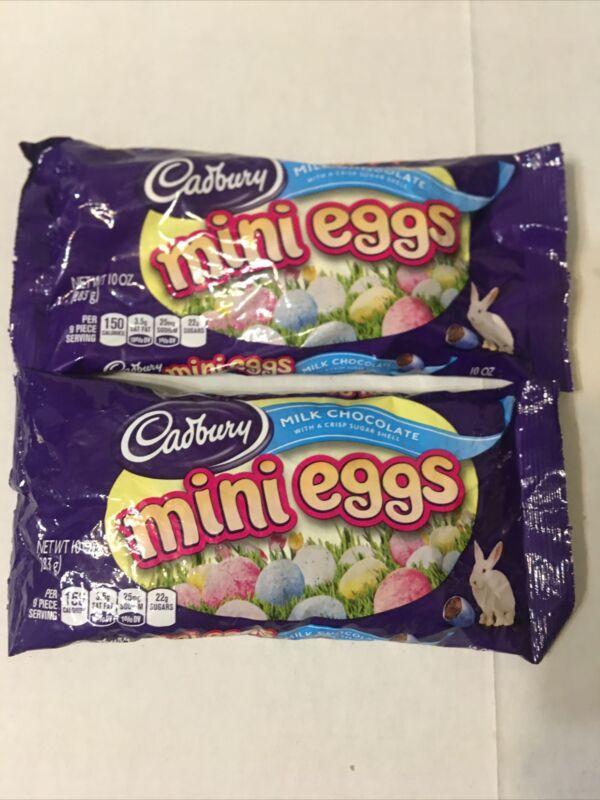 2 Bags Cadbury Easter Candy Coated Mini Eggs Milk Chocolate W/ Sugar Shell 10oz