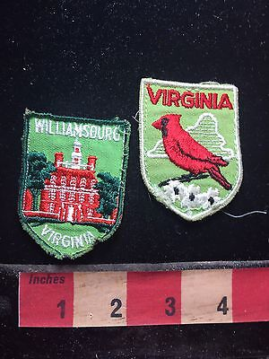 Virginia Patch Lot - State Bird & Williamsburg Governor's Palace S76D
