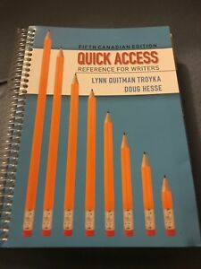 Quick Access Reference For Writers 5th Ed