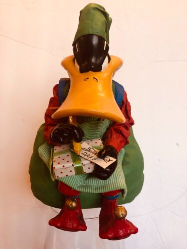 Vintage Looney Tunes Clothtique Daffy Duck Christmas Figure 1997