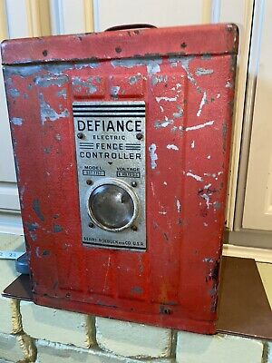 Vintage Farm Electric Fence Controller By Defiance Sears Roebuck Original Rare
