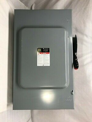 Square D Ch224n 200 Amp 240vac 250vdc Fusible 2p Disconnect Switch Unused