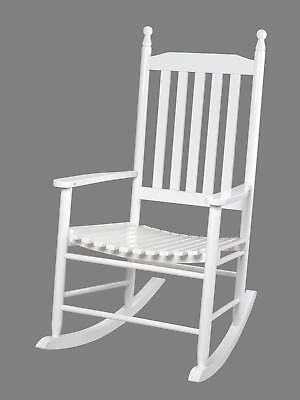 Giftmark 3400W Adult Tall Back Rocking Chair White