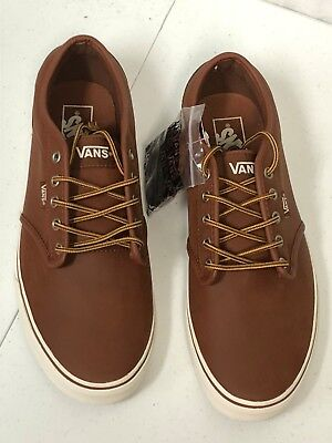 NEW VANS MENS Atwood Leather Brown Marshmallow SZ 10 VN0A327LLYV