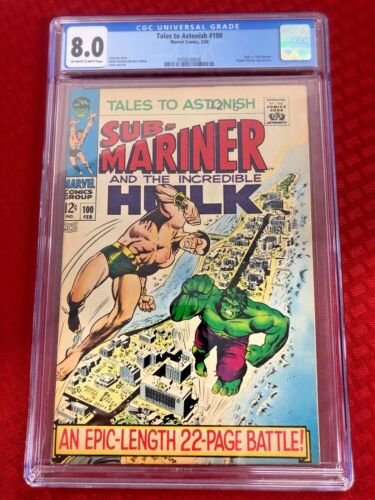 Tales to Astonish 100 (CGC Graded) Hulk vs. Sub-Mariner