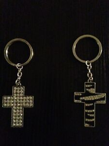 Rhinestone Cross Use For Handbag Charm, Pendant or Key Ring