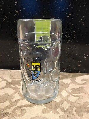 Deutsch-Amerikanisches Volkfest Liter Glass Beer Stein
