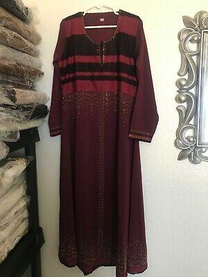 Kids Girls Muslim Islamic Dress Long Sleeves Soft Full Length Burka Maxi Abaya