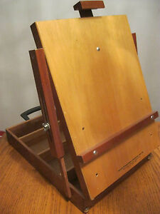 Vintage artist table table top box easel mahogany wood brand new made