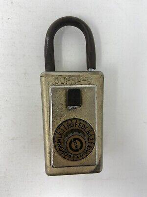 Vintage Supra C Series 3 Dial Alpha Combination Key Lock Box Works W Code