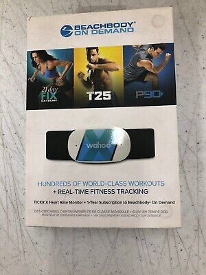 NEW Wahoo BeachBody on Demand TICKR X Heart Rate Monitor Real Time Tracking