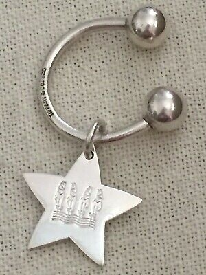 TIFFANY & CO. 925 Sterling Silver Engraved STAR -