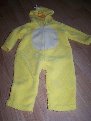 Size 24 Months Yellow Duck Chick Halloween Costume Jumpsuit Fleece Warm EUC (Yellow Jumpsuit Halloween Costume)