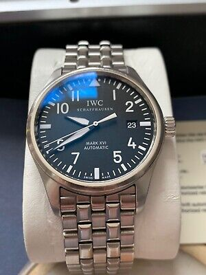 IWC Pilot Mark XVI IW325501 Watch Box & Papers Inc Spare IWC Strap & Tang Buckle
